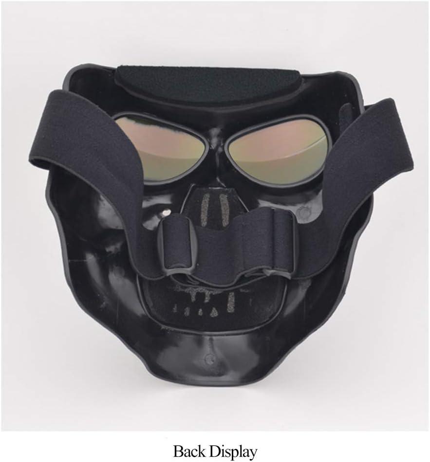 Motorradbrille Helm Maske Au/ßenreit Motocross Sch/ädel Winddicht Wind Brille Sanddichte Brille Walmeck