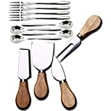 Cheese Knives with Wood Handle Steel Stainless Cheese Slicer Cheese Cutter (Option A)
