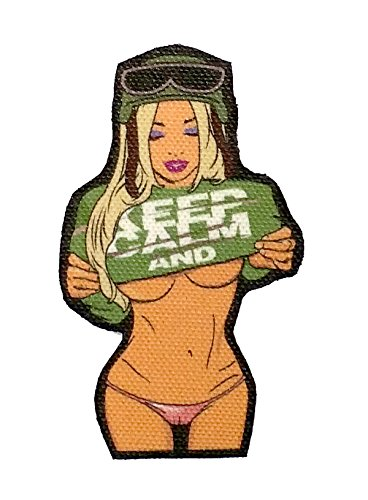 KEEP-CALM-Undressed-Sexy-Girl-Camel-Toe-Thong-Printed-Tactical-Morale-Patch