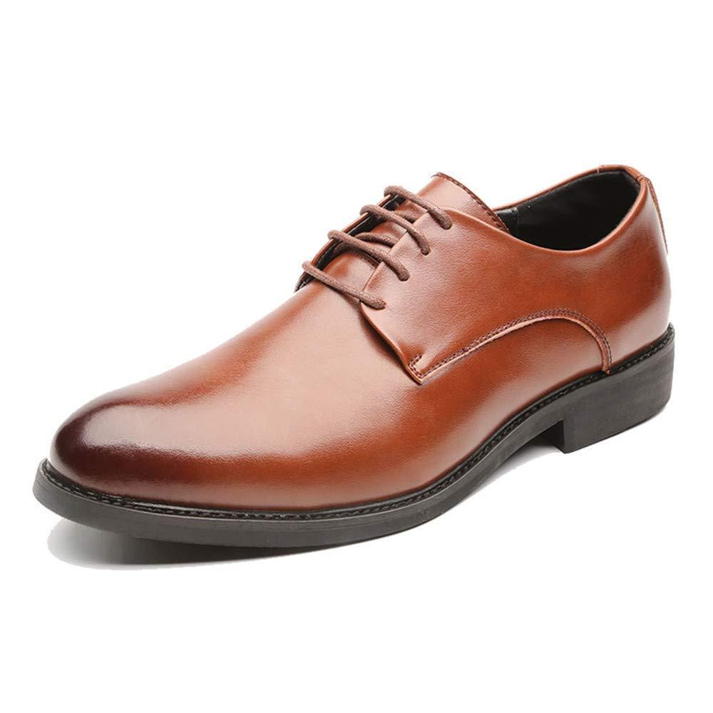 HhGold 2018 Chaussures Oxford pour Hommes, Style décontracté Classique de la Mode, Chaussures Formelles de Style Classique pour Hommes (Couleur: Marron, Taille: 38 EU)