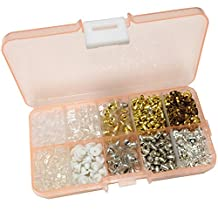 10 Styles Earring Backs Rubber Plastic Metal Earring Back for Safety, 1000 Pieces (Mix Earring Backs)