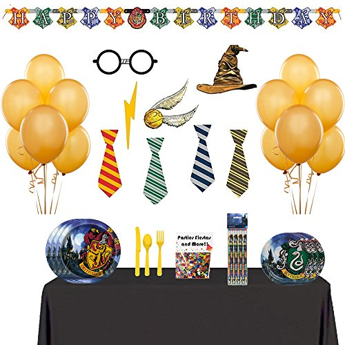 Harry Potter Party Supplies and Photo Props and Balloon Bundle