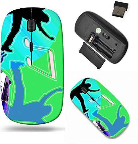 Liili Wireless Mouse Travel 2.4G Wireless Mice with USB Receiver, Click with 1000 DPI for notebook, pc, laptop, computer, mac book Illustration of Dancing to the music with boombox CDs Photo 275368