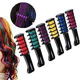 Rosenice Hair Chalk Comb Shimmer Temporary Hair Color Cream 6pcs…
