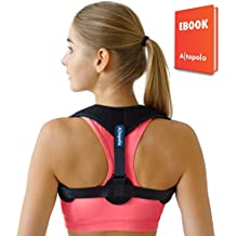 Altapolo Posture Corrector for Men & Women – Adjustable Shoulder Posture Brace – Figure 8 Clavicle Brace for Posture Correction And Alignment – Invisible Thoracic Back Brace for Hunching & Slouching