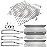 Hisencn BBQ Repair Kit Replacement for Jenn Air Gas Grill 720-0336, 7200336, 720 0336 Grill Stainless Steel Burners,Stainless Steel Heat Plates & Stainless Steel Cooking Grid Grates
