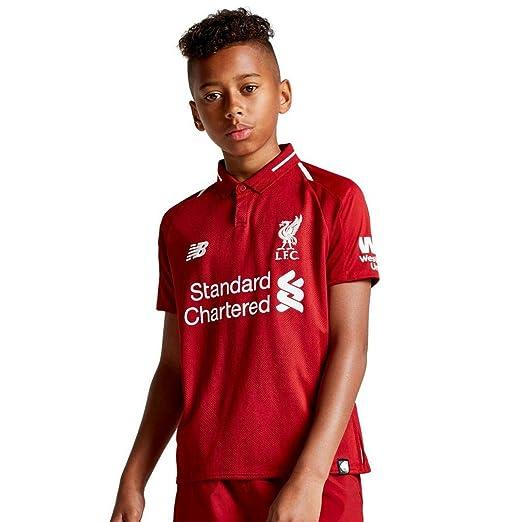 1aa4088cd02 Amazon.com  New Balance 2018-2019 Liverpool Home Football Shirt ...