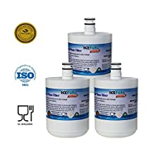 IcePure RFC0100A-3pk Water Filter to Replace LG, Kenmore, Sears (Pack of 3)