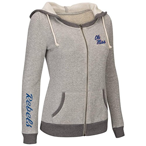 Colosseum Womens NCAA Ole Mississippi Rebels Full-zip Hoodie - L