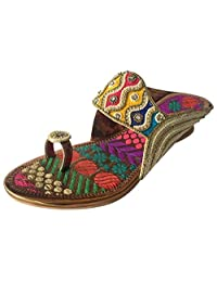 Step n Style Women Ethnic Indian Shoe Footwear Beaded Shoe Indian Bridal Shoes Party Shoes Jutti B01N777FT2 Parent e20038