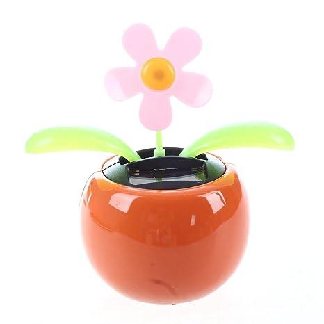 SODIAL(R) La aleta de tiron con energia solar swing maceta de la flor