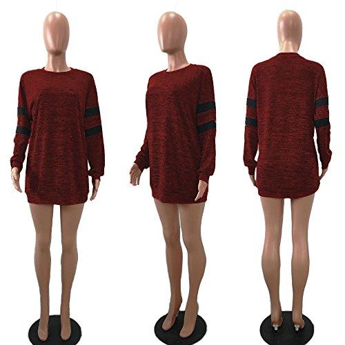 Chemisier Chic Longues T Casual Tops Hauts Tunique Manteau Sweatshirt Kangrunmy Blouse Col Mousseline Femme Chemise Veste Ii1 Sweat V Shirt Fluide Mode Manches FxgfqqdEw