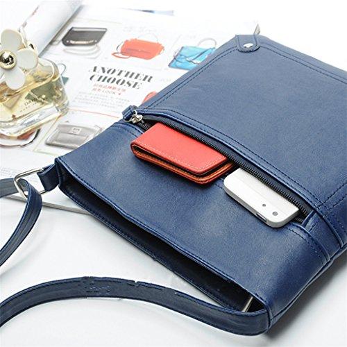 Leather Body Messenger Shoulder Shoresu Blue Cross Bags Black Bag Bag Handbag Satchel Women SWHz4