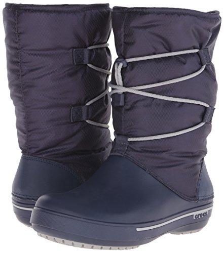 crocs Women's Crocband II.5 Cinch W Snow Boot, Navy/Light Grey, 8 B(M) US