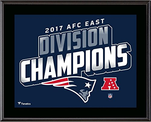 "New England Patriots 10.5"" x 13"" 2017 AFC East Champions Sublimated Plaque - NFL Team Plaques and Collages"