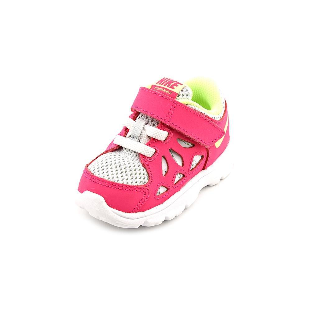 enfermo maceta Color rosa  Buy Nike Kids Fusion Run 2 (TDV) Baby Girls Shoes Pure Platinum/Volt  Ice/Vivid Pink at Amazon.in