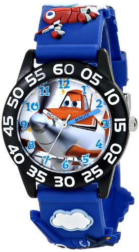 "Kids'  "" Planes Fire & Rescue""  Watch with Blue Plastic Band - Disney W001527"