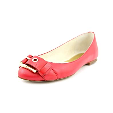 d4ed6a8b23 Image Unavailable. Image not available for. Color: Michael Kors MK Womens  Calder Ballet Rhubarb Leather Flat Shoe Size 6