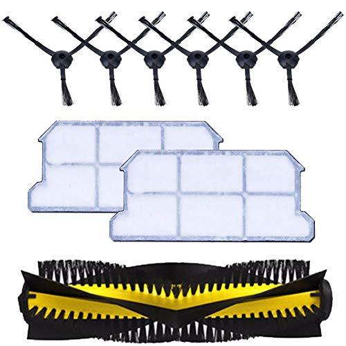SODIAL 1x Main Brush+6X Side Brush+2X dust hepa Filter kit for chuwi ilife v7 v7s v7s pro Robotic Vacuum Cleaner Parts