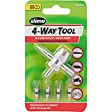 Slime 20088 4-Way Valve Tool with 4 Valve Cores