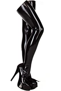 10f12ae15 Amazon.com  ECOSPLAY Women s Fetish Range Latex Rubber Black Thigh ...