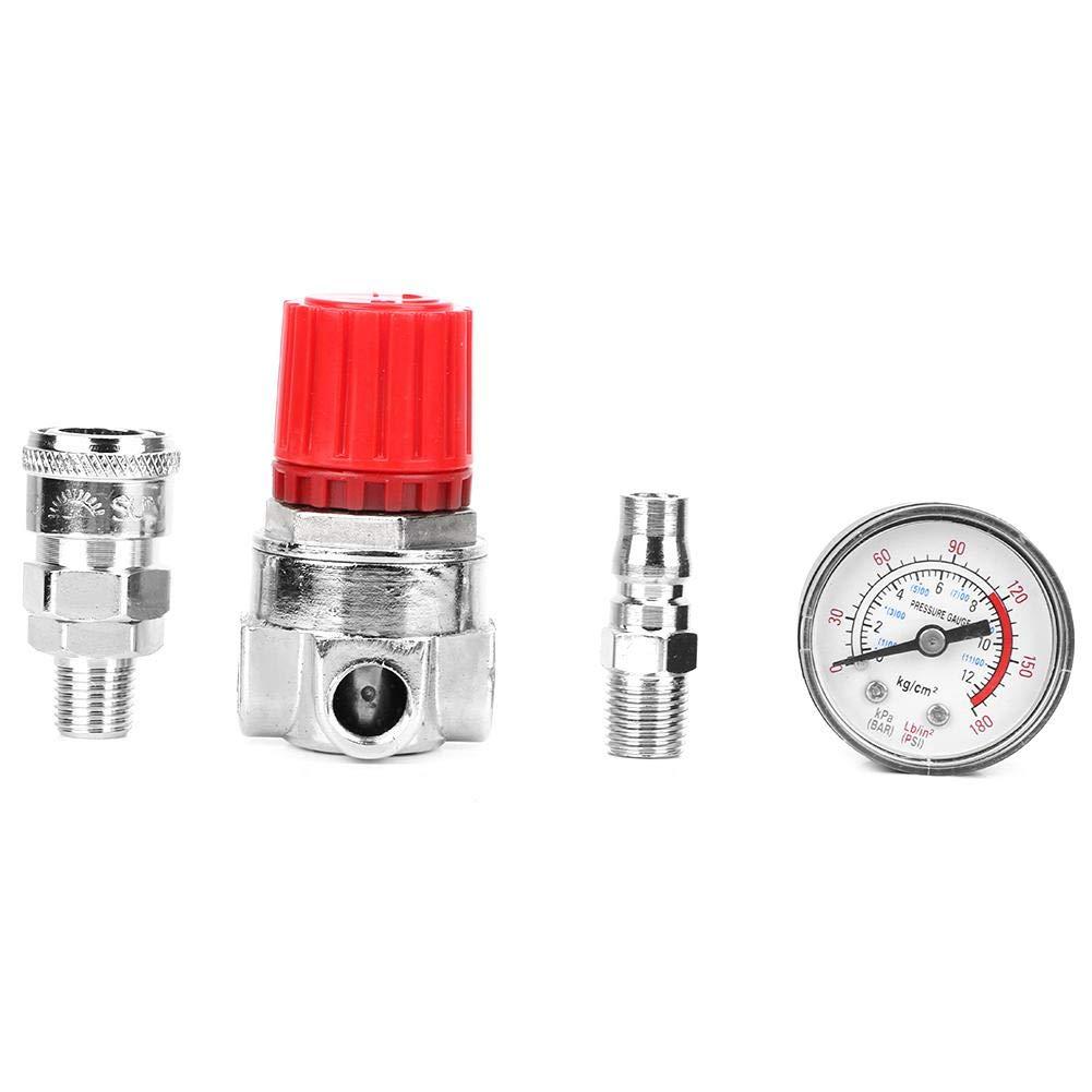R/égulateur de pression jauge de soupape de commande de commutateur Nimoa avec connecteur m/âle//femelle pour compresseur dair