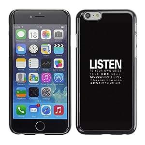 A-type Arte & diseño plástico duro Fundas Cover Cubre Hard Case Cover para Apple (5.5 inches!!!) iPhone 6+ Plus / 6S+ Plus (Escuchar - Mensaje Profundo)