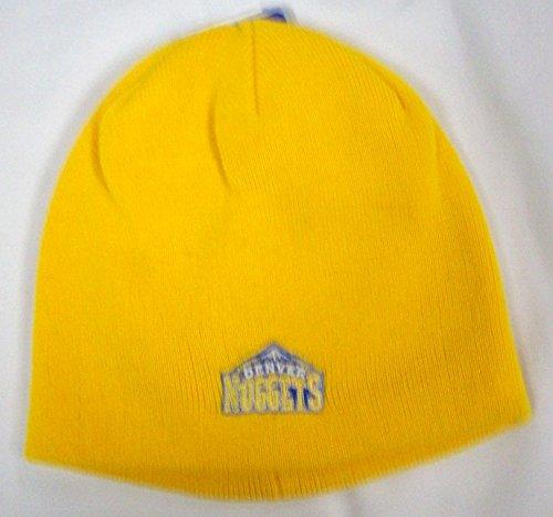 NBA adidas Denver Nuggets Gold Basic Logo Knit Beanie -