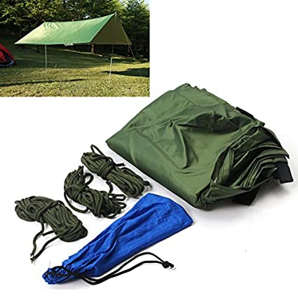 LaDicha Portátil 3-4 Persona Ligero Campamento Tienda Impermeable Lona Abrigo De Lluvia Alfombra Hamaca
