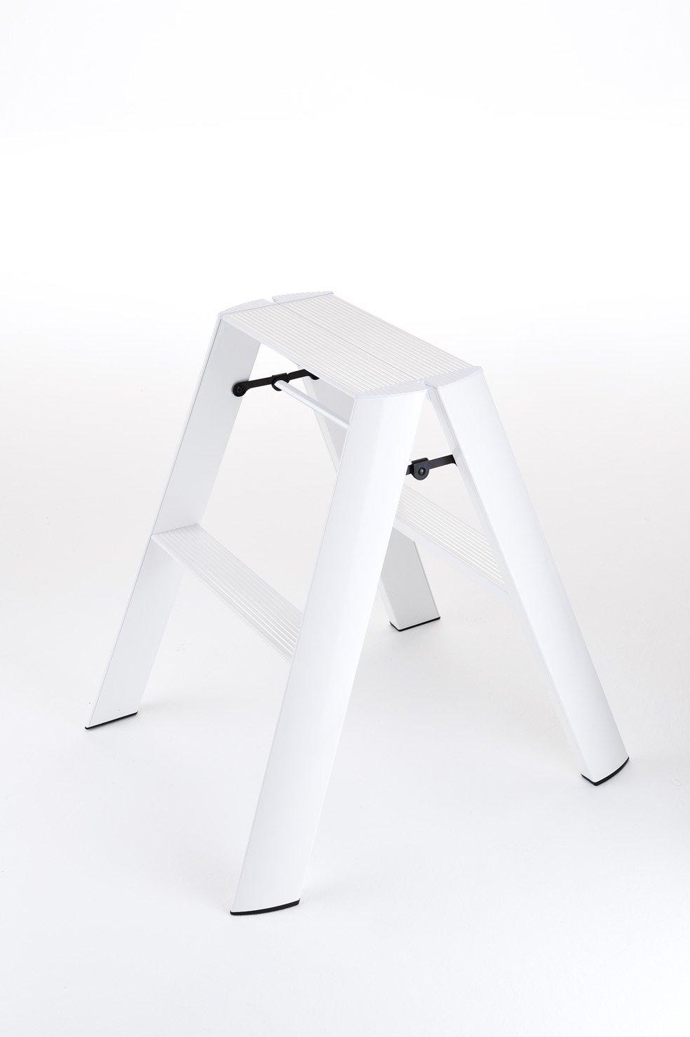 長谷川工業 hasegawa ハセガワ ルカーノ lucano デザイン踏台 2段 2-step 定番色 ホワイト ML2.0-2J(WH) B017S5XPJW