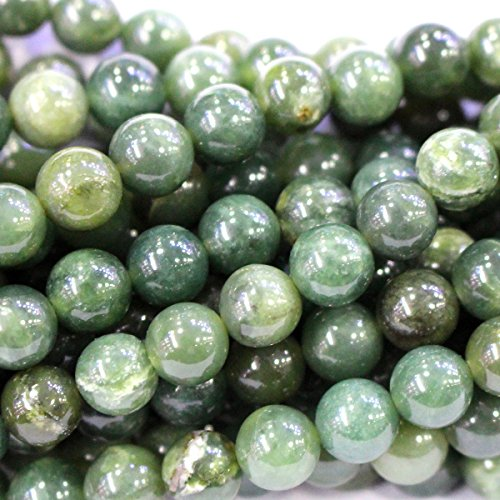 Natural Color Canada Nephire jade Round Gemstone Jewelry Making Loose Beads (8mm)