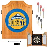 NBA Denver Nuggets Wood Dart Cabinet Set