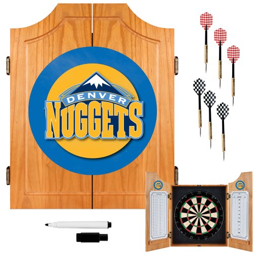 NBA Denver Nuggets Wood Dart Cabinet Set by Trademark Gameroom