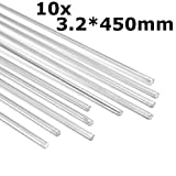 HITSAN 10pcs 450mm Aluminum Alloy Silver Welding Rods Tools For Cracks Polish Paint