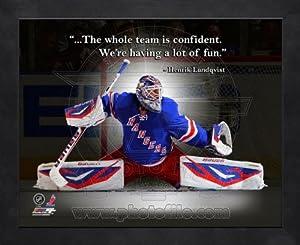 Henrik Lundqvist New York Rangers Pro Quotes Framed 8x10 Photo