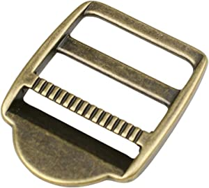 iHYAO Metal Ladder Lock Slider Buckles,Tension Locks Triglide for Belt Backpack Camping Bag Belt Suitcase (Antique Brass,Inner Diameter 30mm,4 PCS)