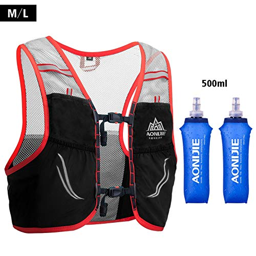 Amazon.com : AONIJIE Trail Running Vest Backpack Lightweight Breathable Cycling Marathon Ultralight Hiking Sport Bag 2.5L with 500ml Soft Flask : Sports & ...