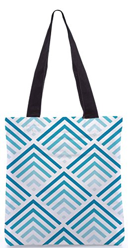 Snoogg Super-blue Design Shopping Bag 13,5 X 15 Pollici Realizzato In Tela Di Poliestere