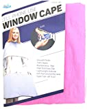 Dream Cell Phone Use Window Cape #3213 Pink, smooth finish, 100% nylon, high tech, lightweight, soft feel, super size, 60'' x 63'', professional, hair stylist, salon, stylist, barber, salon,