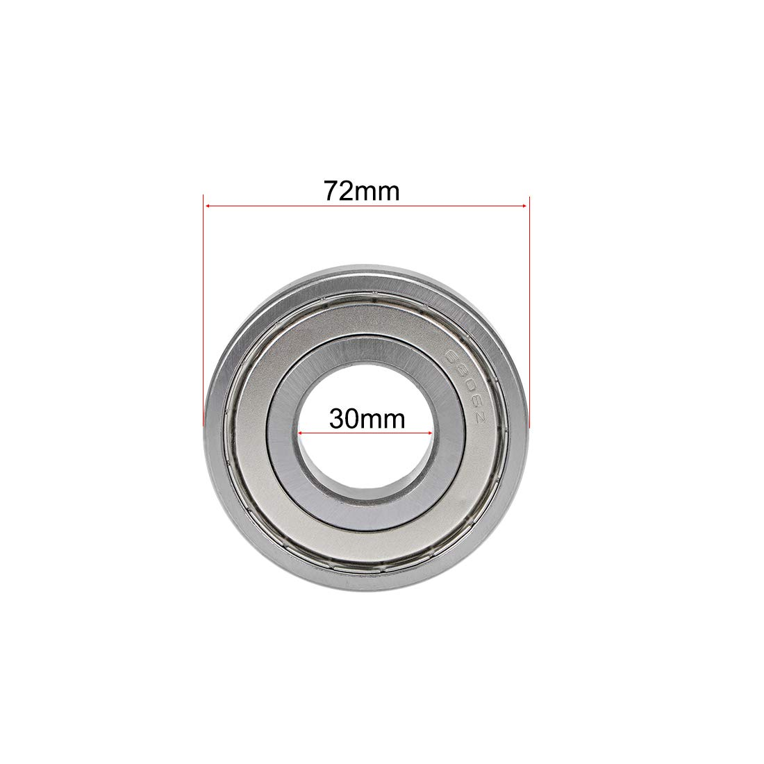 sourcing map 6200-2RS Deep Groove Ball Bearing 10x30x9mm Double Sealed ABEC-3 Bearings 10-Pack