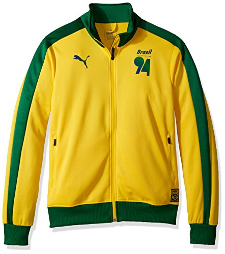 PUMA Men's Forever Football T7 Track Jacket, Dandelion Brazil, XL from PUMA