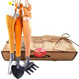aGreatLife Gardening Hand Tool Set: Best Handcrafted Wooden Outdoor Accessories For Toddlers, Girls and Boys- Includes 3 Essential Garden Equipment