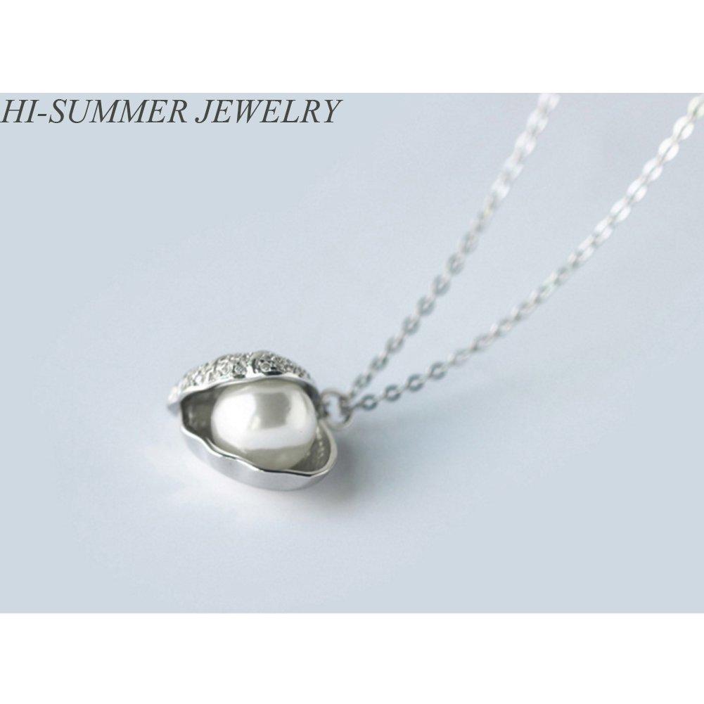 Helen de Lete Pearl In Shell Sterling Silver Collar Necklace
