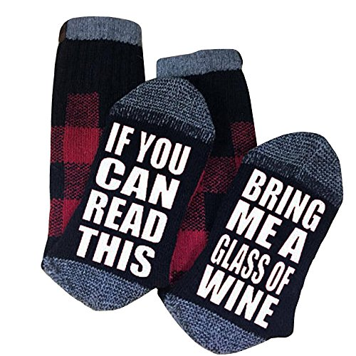 Huiyuzhi Unisex IF YOU CAN READ THIS Socks Knit Funny Crew Socks Party Novelty Sock