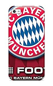 5772351K49454153 New Bayern Munchen Fc Logo Tpu Skin Case Compatible With Iphone 5c