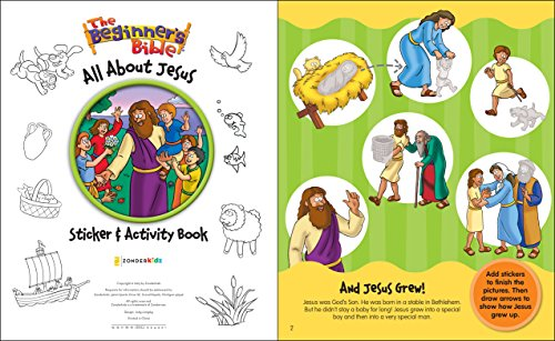 The Beginners Bible All About Jesus Sticker And Activity