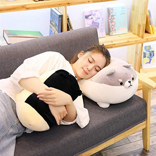LtrottedJ Anime Shiba Inu Plush Stuffed Sotf Pillow Doll Cartoon Doggo Cute Shiba Soft Toy (Black) -