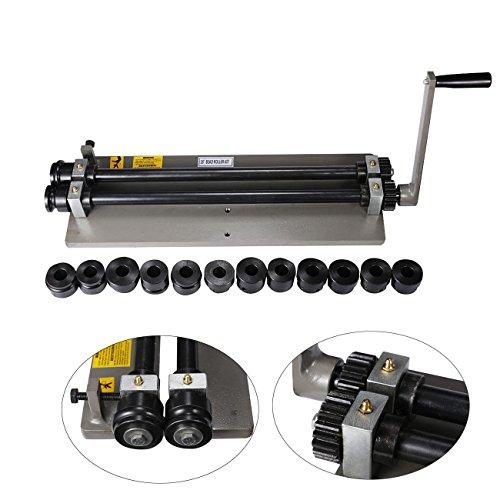BEAMNOVA Sheet Metal Bead Roller Machine 18 inch Gear Drive Bench 6 Dies Set (Roller Drive Gear)