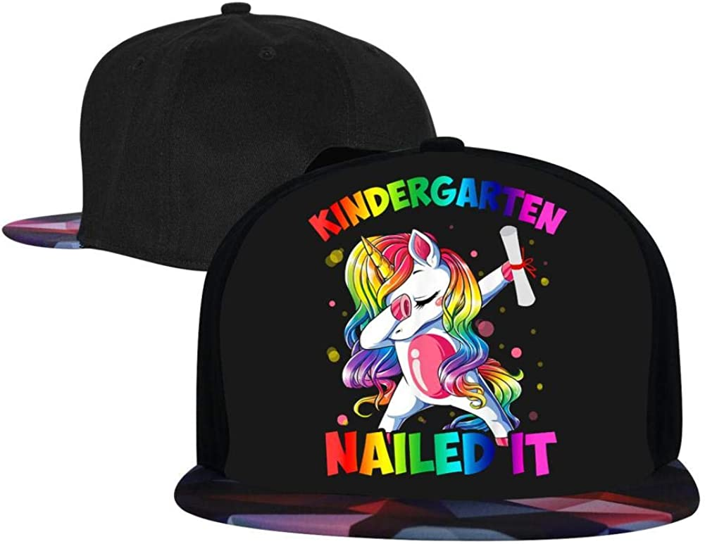 Dabbing Girl Unicorn Mens and Womens Trucker Hats Adjustable Hip Hop Flat-Mouthed Baseball Caps