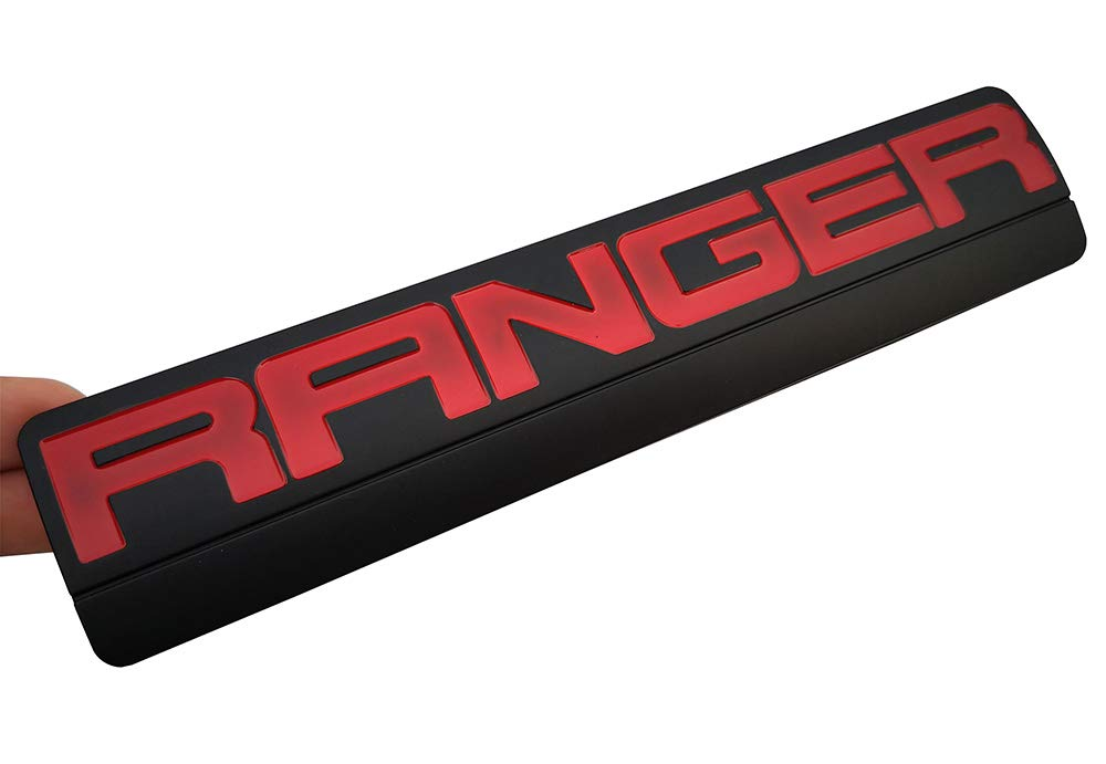 2Pcs RANGER Emblems Black red 3D Badge Fender Decal Replacement for Ford F150 F250 2006-2011